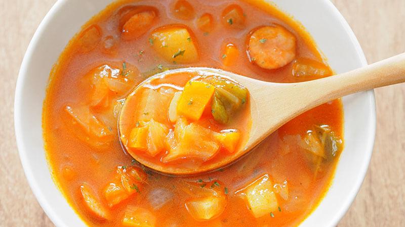 菊芋と白身魚のトマト風スープ