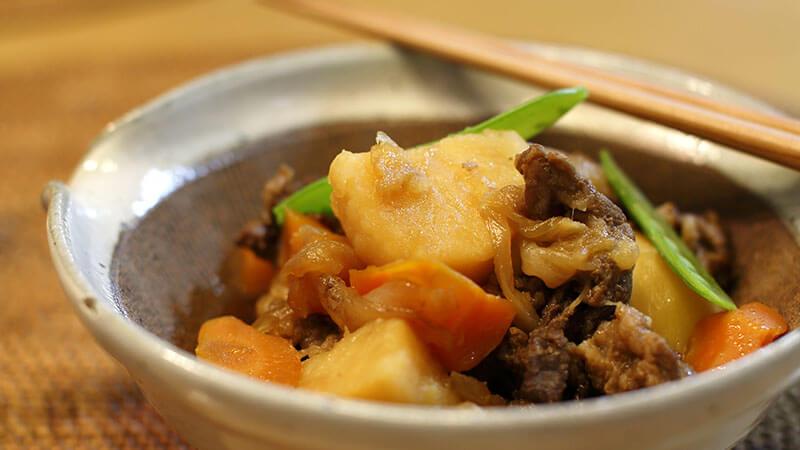 菊芋の肉じゃがもどき