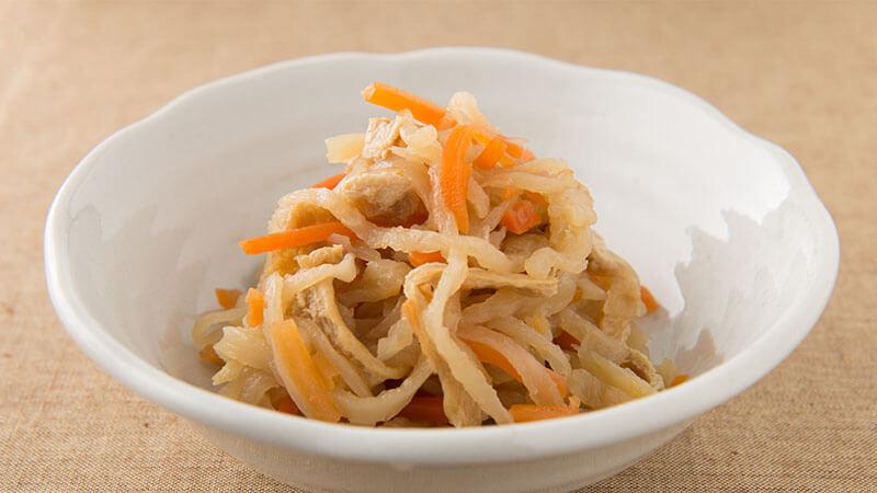 菊芋と切干大根の煮物