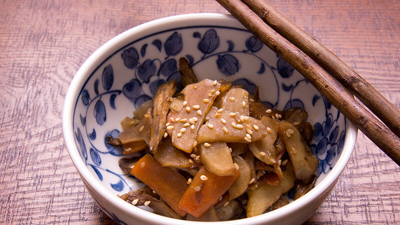菊芋とニンジンのピリ辛きんぴら